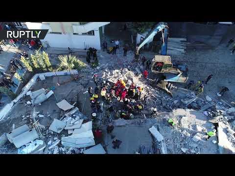 آثار دمار أقوى زلزال ضرب ألبانيا منذ عشرات السنين