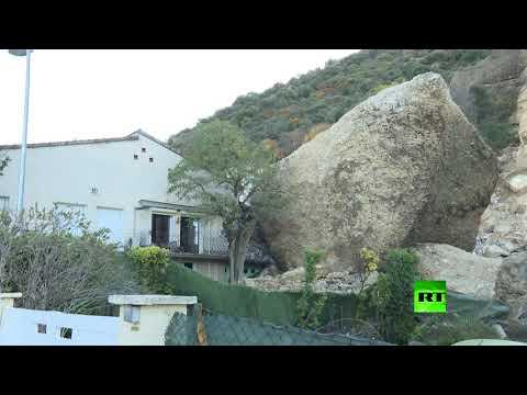 انهيار أرضي في جنوب فرنسا يدمر عدة منازل