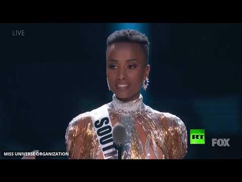 شاهد حسناء جنوب أفريقيا تفوز بمسابقة ملكة جمال الكون لعام 2019
