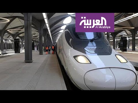 شاهد قطار الحرمين يستأنف رحلاته اليومية بين مكة والمدينة