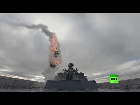 لقطات مثيرة لإطلاق صواريخ كينجال وكاليبر الروسية