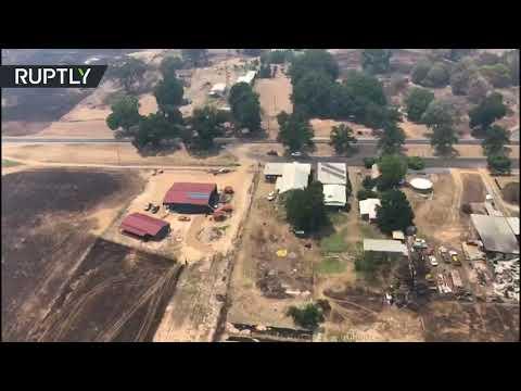 لقطات من الجو لآثار حرائق الغابات في أستراليا