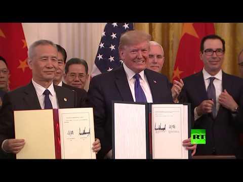 ترامب ونائب الرئيس الصيني يوقعان اتفاقا تاريخيًا لـإنهاء الحرب