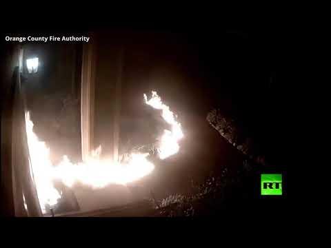 مجهول يشعل النيران في مبنى سكني في الولايات المتحدة