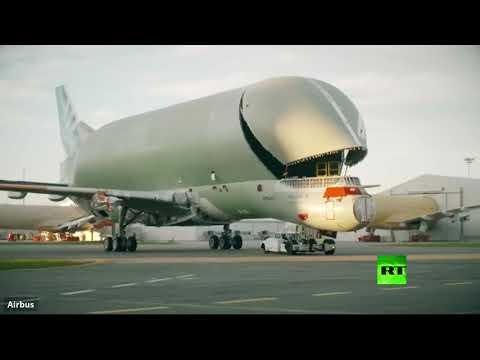 مراحل تجميع الطائرة الحوت من شركة إيرباص