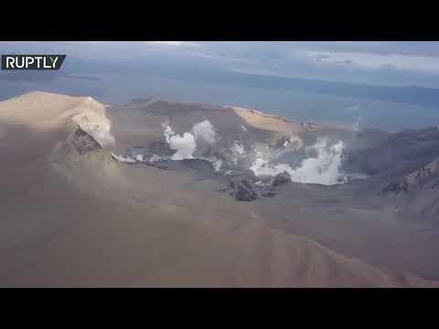لقطات من الجو لـ بركان تال الثائر في الفلبين