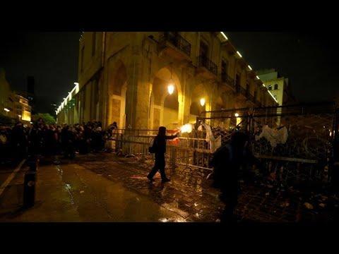 تجدد المواجهات بين المحتجين وقوات الأمن في بيروت