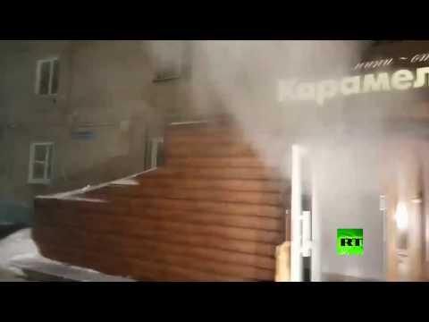 شاهد 5 قتلى بانفجار أنابيب التدفئة والماء الساخن في فندق روسي