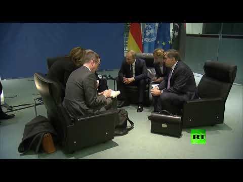 شاهد بوتين يلتقي جونسون على هامش مؤتمر برلين حول ليبيا