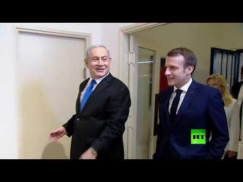 إيمانويل ماكرون يلتقي بنيامين نتنياهو في إسرائيل