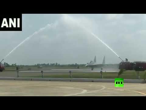 استقبال حار لأول سرب من مقاتلات سو30 الروسية في الهند