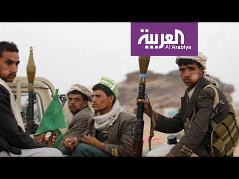 شاهد مدفعية التحالف العربي تقصف مواقع الحوثيين