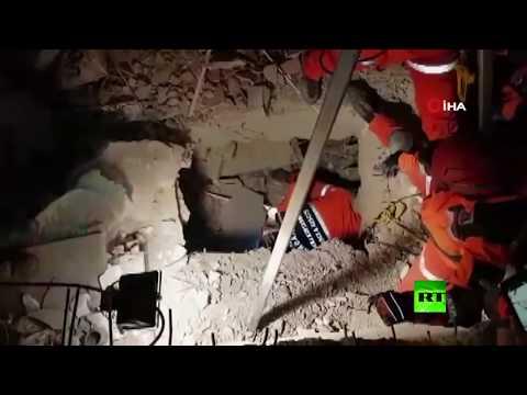 إنقاذ طفلة عمرها عامان بعد زلزال تركيا