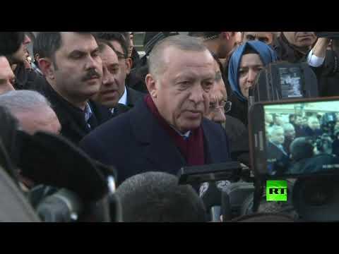 الرئيس التركي يصل إلى المنطقة المنكوبة بالزلزال