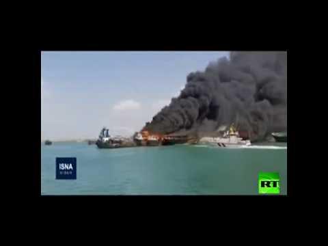 احتراق أربعة قوارب جنوب إيران