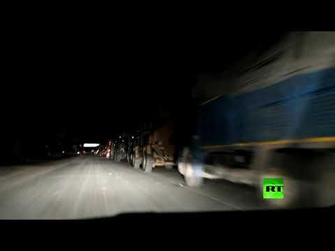 شاهد القوات التركية تدخل ريف حلب السوري