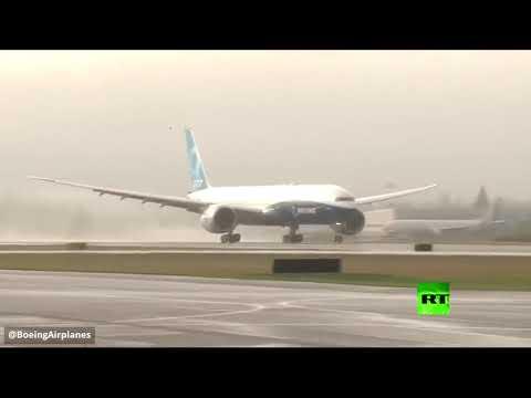 أول رحلة تجريبية لبوينغ 777إكس