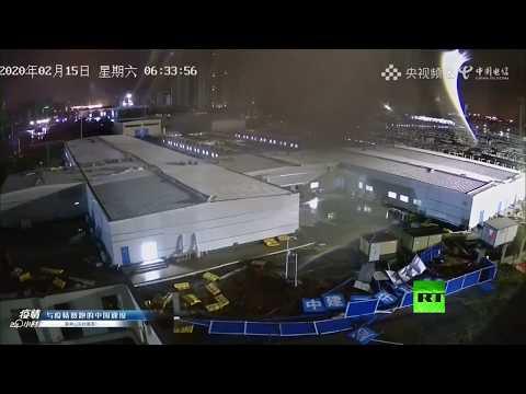 بث مباشر من مكان تشييد مستشفى جديد في ووهان الصينية