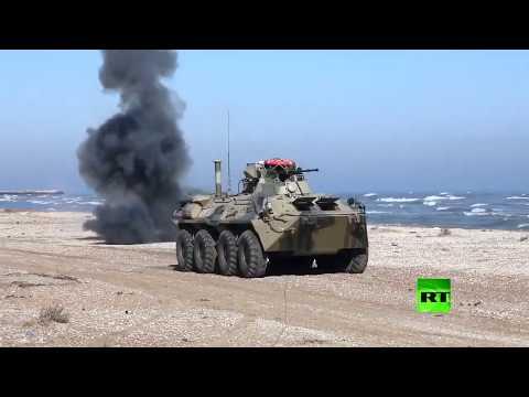 شاهد عملية إنزال بحري على شواطئ داغستان