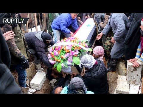 تشييع جثمان الشاب الذي قتل برصاص الجيش الأميركي في الحسكة