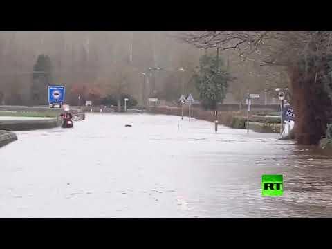 الفيضانات تجتاح مناطق مختلفة من بريطانيا بسبب العاصفة دينيس