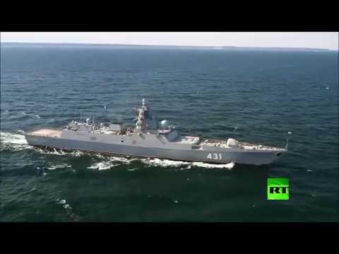 روسيا تختبر فرقاطة حربية جديدة قبل انضمامها للأسطول الشمالي