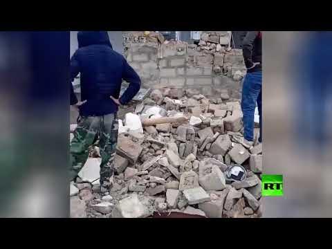 شاهد زلزال يضرب المنطقة الحدودية بين تركيا وإيران بقوة 58 ريختر