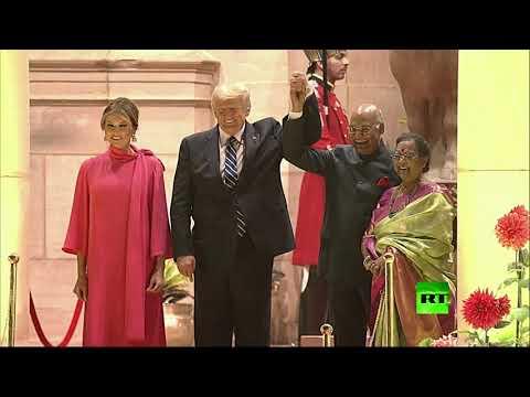 شاهد مأدبة العشاء على شرف ترامب في قصر الرئاسة في الهند