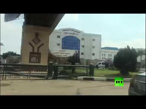 شاهد لقطات من أمام مستشفى توفي فيه حسني مبارك