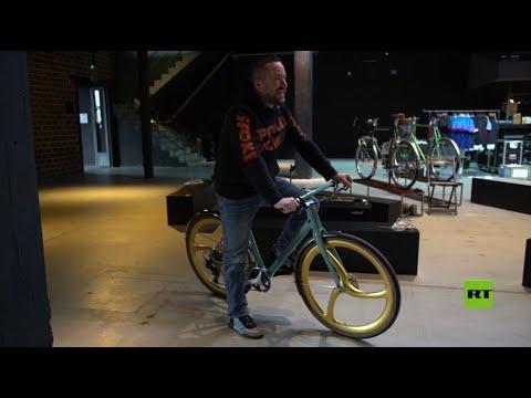شاهد عجلات ذهبية لدراجة هوائية سعرها 10000 دولار