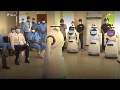 شاهد روبوتات أممية لمحاربة كورونا