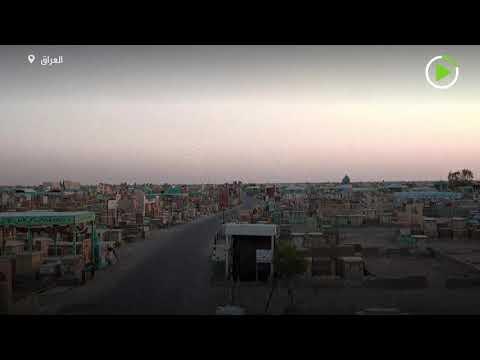 شاهد طائرة درون تصور أكبر مقبرة في العالم في العراق