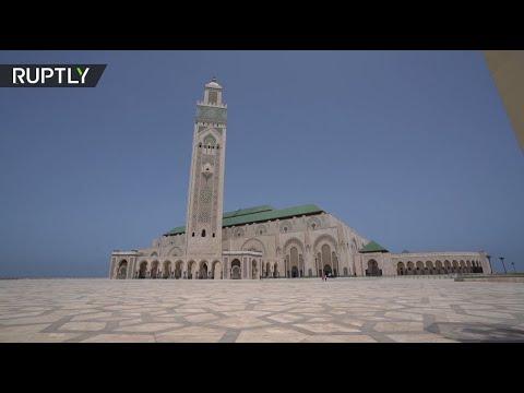 شاهد إعادة افتتاح مسجد الحسن الثاني في الدار البيضاء المغربية
