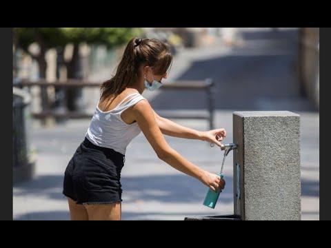 شاهد موجة حر تضرب في العاصمة الإسبانية