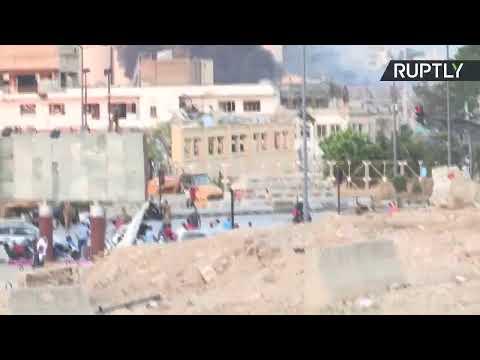شاهد بث مباشر من مكان الانفجار الكبير في العاصمة اللبنانية بيروت