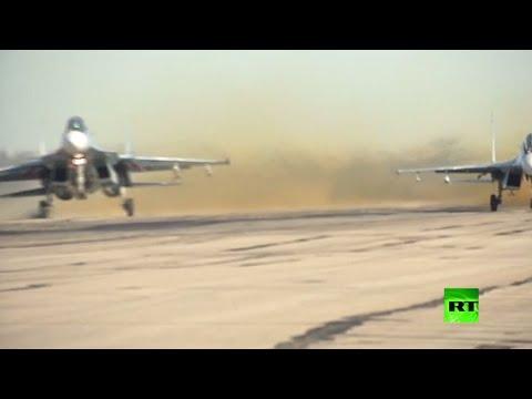شاهد فعاليات لمناسبة عيد سلاح الجو الروسي في قاعدة حميميم