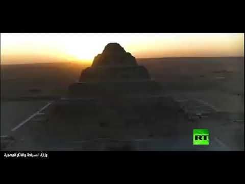 شاهد كشف أثري فريد من نوعه بمنطقة سقارة في مصر
