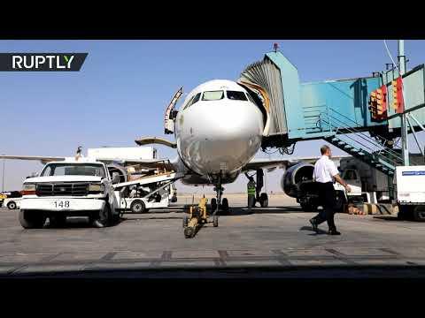 شاهد مطار دمشق الدولي يستأنف عمله بعد انقطاع دام نصف عام