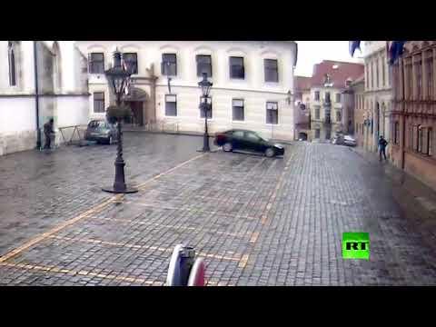 شاهد الشرطة الكرواتية تنشر فيديو لإطلاق نار قرب مقر الحكومة