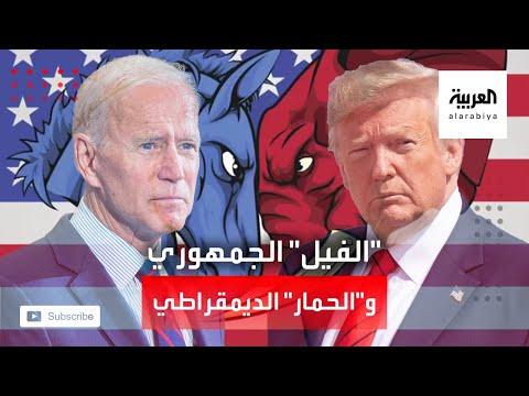 شاهد الحمار للديمقراطيين والفيل للجمهوريين ما هي قصة الشعارين