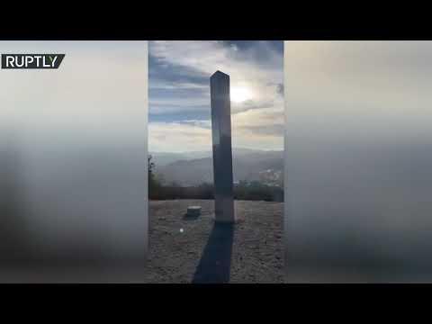 شاهد هيكل معدني غامض ثالث يظهر هذه المرة على جبل في كاليفورنيا الأمريكية
