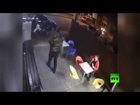 شاهد رد فعل فوري يٌنقذ رجلًا من هجوم مسلح في أوروغواي