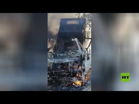شاهد العثور على منصة الصواريخ التي استهدفت القوات الأميركية في العراق